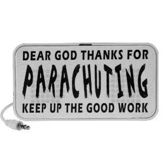 Dear God Thanks For Parachuting Mp3 Speaker