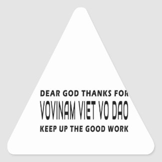 Dear God Thanks For Vovinam Viet vo Dao Triangle Stickers