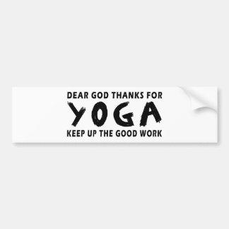 Dear God Thanks For Yoga Bumper Sticker