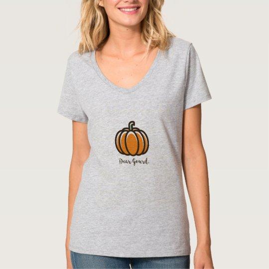 """""""Dear Gourd"""" Pumpkin Design Clothing T-Shirt"""