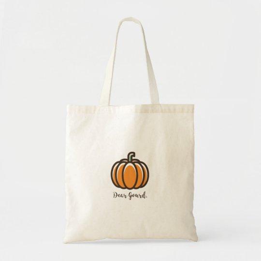 """""""Dear Gourd"""" Pumpkin Tote Bag"""