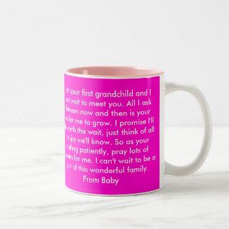 Dear Grandma, First GrandChild Two-Tone Mug