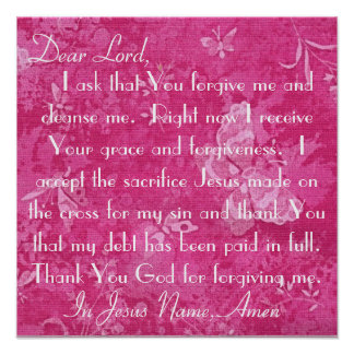 Dear Lord forgive me and cleanse me Poster