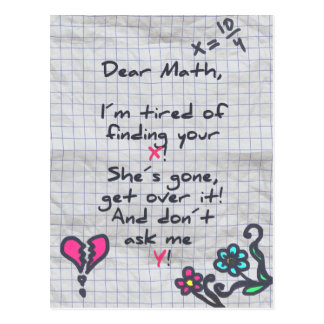 Dear Math Postcard