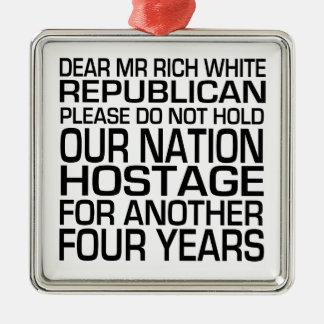 Dear Mr Rich White Republican Ornaments