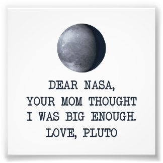 Dear Nasa Love Pluto Art Photo