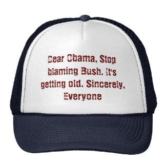 Dear Obama, Stop blaming Bush. It's getting old... Cap