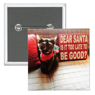 Dear Santa... 15 Cm Square Badge