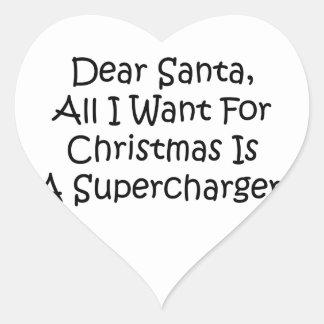 Dear Santa All I Want For Christmas Is A Superchar Heart Stickers