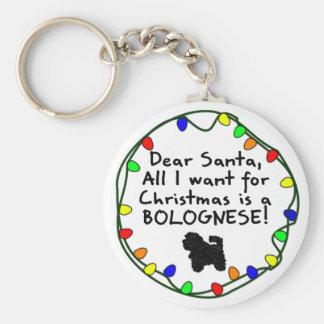 Dear Santa Bolognese Key Ring