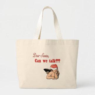 Dear Santa Can We Talk? Jumbo Tote Bag