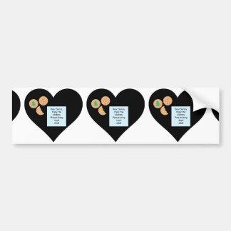Dear Santa Cookies Bring Toys Black Heart Bumper Sticker