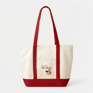 Dear Santa Define Good Girl Canvas Bags