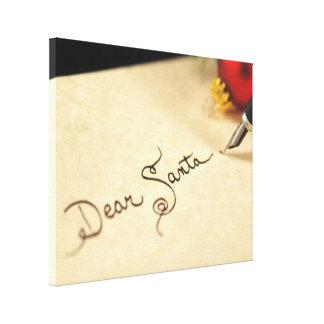 Dear Santa Gallery Wrapped Canvas