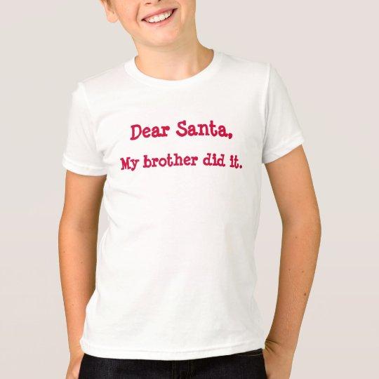 dear santa girls tee