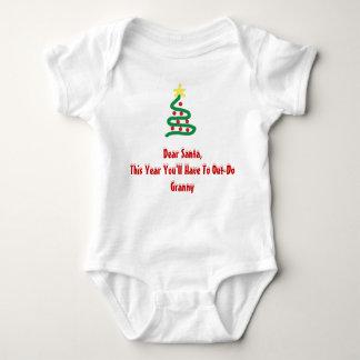 Dear Santa - Granny Baby Bodysuit