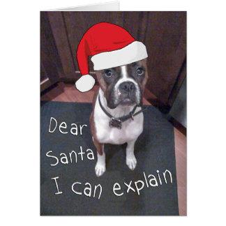 Dear Santa I Can Explain Note Card