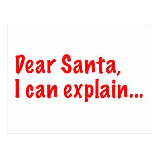 Dear Santa, I can explain... Post Card