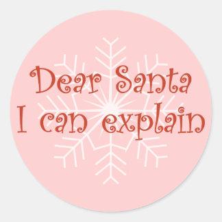 Dear Santa I can explain Sticker