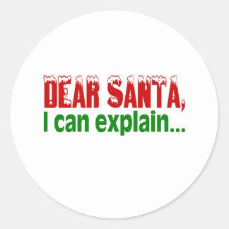 Dear Santa I Can Explain Stickers