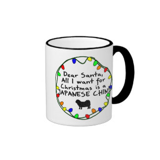 Dear Santa Japanese Chin Coffee Mugs