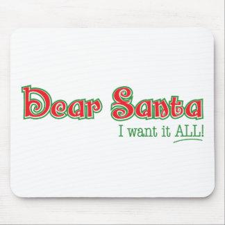 Dear Santa Mouse Pad