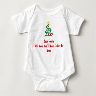Dear Santa - Nana Baby Bodysuit