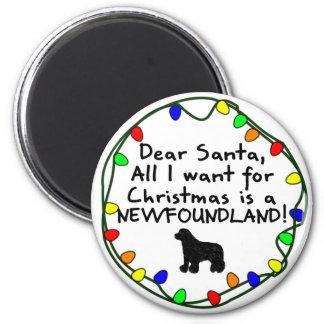 Dear Santa Newfoundland Magnet