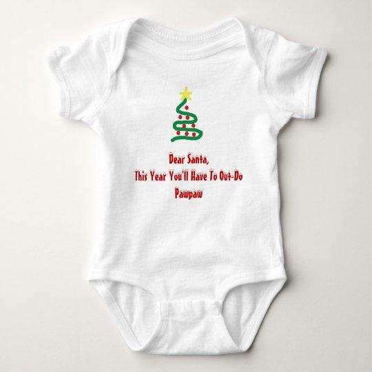 Dear Santa - Pawpaw Baby Bodysuit