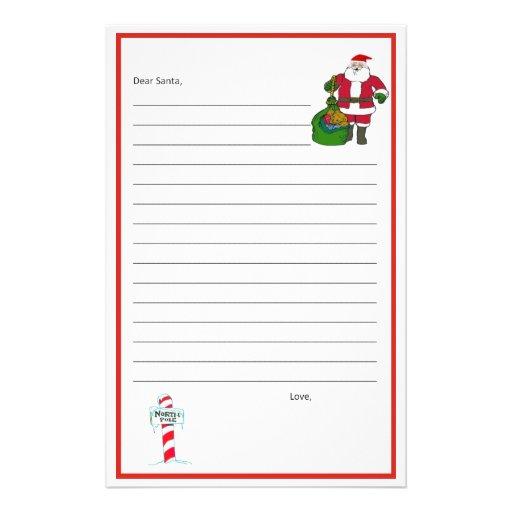 Dear Santa Stationary! Template Personalized Stationery   Zazzle
