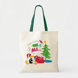 Dear Santa Canvas Bags