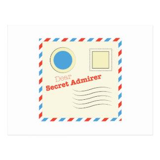 Dear Secret Admirer Postcard