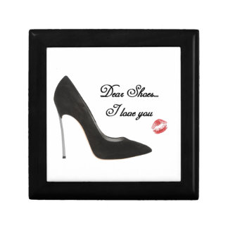 Dear Shoes....I love you Small Square Gift Box