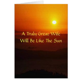 Dear Wife Card
