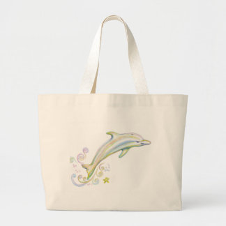 Dearest Dolphin Large Tote Bag