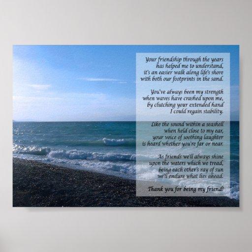 Dearest Friend Poem By the Sea Poster