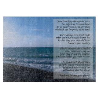 Dearest Friend Poem Seaside Waves Cutting Board