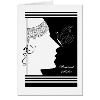 Dearest Sister, Walk Me Down the Aisle?, Art Deco Card