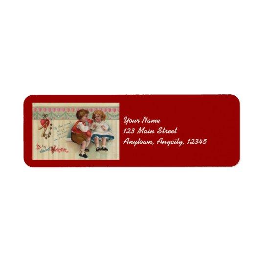 Dearest Valentine Vintage Address Stickers Return Address Label