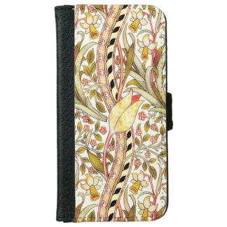 Dearle Daffodil Vintage Floral Pattern iPhone 6 Wallet Case