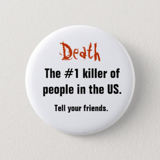 Death, 6 Cm Round Badge