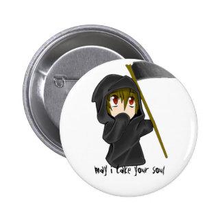 death 6 cm round badge