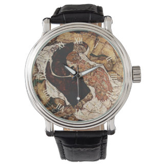 Death And The Maiden by Egon Schiele Wrist Watches