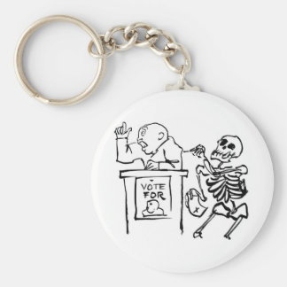 Death and the Politician circa 1951 Keychains