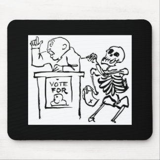 Death and the Politician circa 1951 Mouse Pad