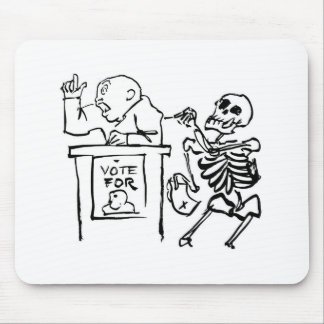 Death and the Politician circa 1951 Mousepads