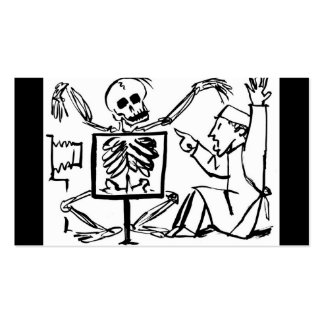 Death and the X-ray Doctor circa 1951 Business Card Templates