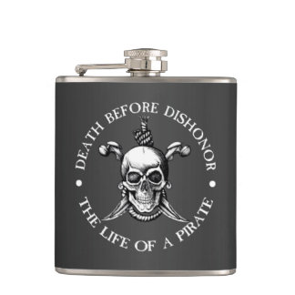 Death Before Dishonor Flask (gray)