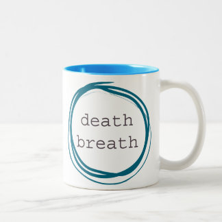 Death Breath Funny Two-Tone Coffee Mug