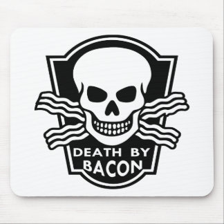 Death By Bacon  WhiteTigerLLC.com Mouse Pad